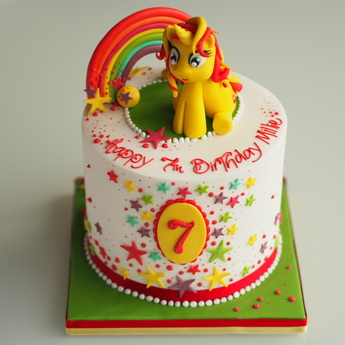 My Little Pony birthday cake by The Frostery, Lancashire