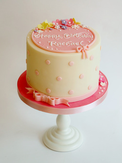 Simple pink Birthday Cake by The Frostery, Oldham, Lancashire
