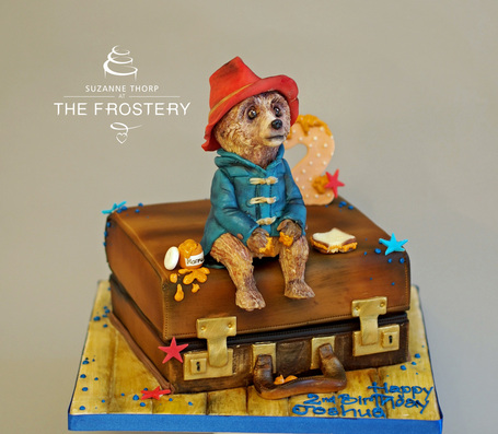 Paddington bear birthday cake by The Frostery, Manchester