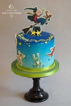 Room on the broom edible image birthday cake