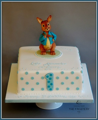 Peter Rabbit birthday cake by The frostery, Lancashire