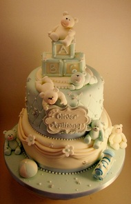 Bespoke Christening Cake by The Frostery, Oldham, Lancashire