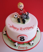 Football supporter Birthday Cake, The Frostery, Oldham, Lancashire