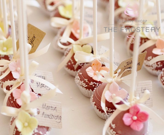 Wedding Favours, Place settings, Cake Pops from THe Frostery, Oldham, Lancashire