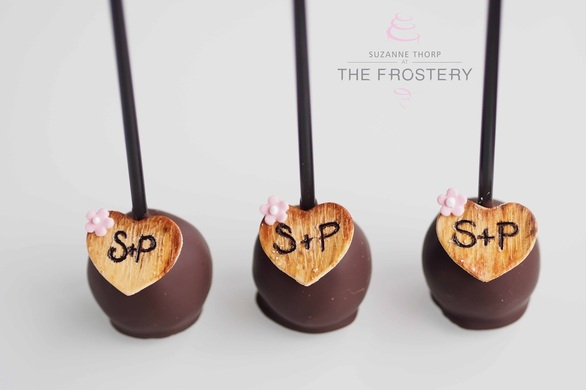 Cake Pops with Initials - Wedding Favours from Manchester