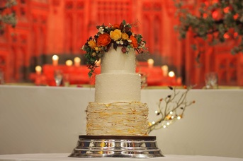 wedding cake by Suzanne Thorp at Manchester Monastery