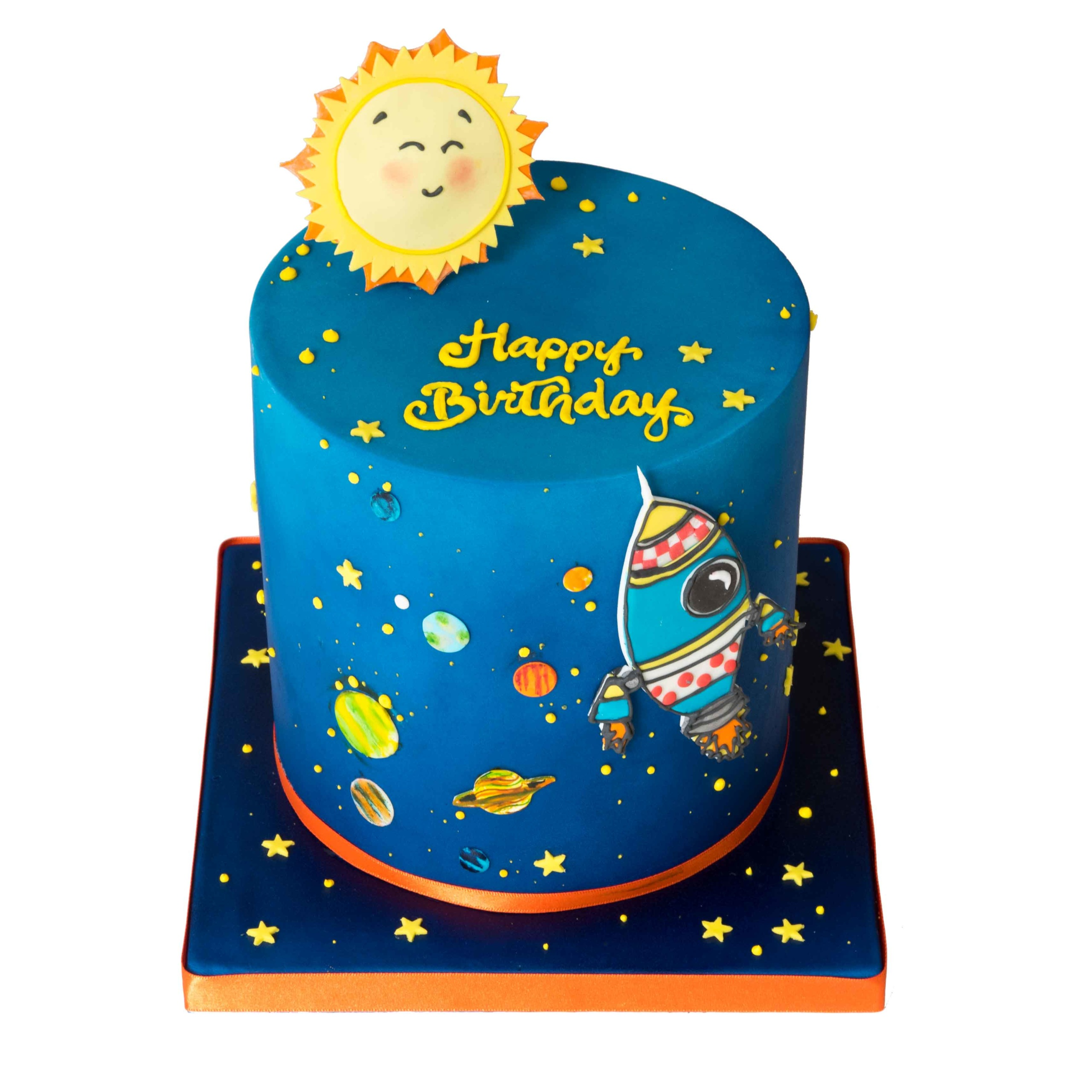 Into Outer Space Birthday Cake